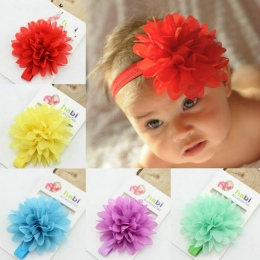 Gorąca Sprzedaż Dziewczynka Elastyczna Hairband Dzieci Hair Wear Dla Dzieci Opaska Kwiat Pałąk Akcesoria Do Włosów Dla Dzieci