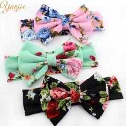 Trendy Europejska Wiosna/Lato Floral Cotton Infantylne Łuk Pałąk hot-sprzedaży Elastyczne Dzieci Dziewczyna DIY Akcesoria Do Wło