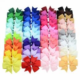 20-40 sztuk Kolory Stałe Tkania Wstążki Łuki Klipy Serpentynę dziewczyny Boutique włosów łuki Spinki Do Włosów Headware Dzieci A