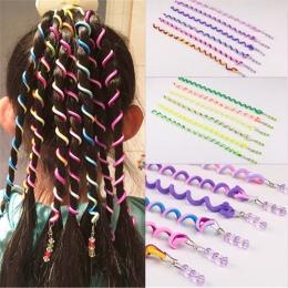6 sztuk/partia Rainbow Kolor Pałąk Słodkie Dziewczyny Nakrycia Głowy pasma Włosów Kryształ Długie Elastyczne Opaski Do Włosów Ak