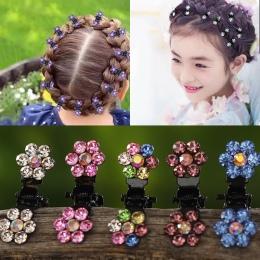 M MISM 12 sztuk/paczka Kryształ Rhinestone Kwiat Do Włosów Pazur Spinki Akcesoria Do Włosów Ozdoby Do Włosów Klipy Hairgrip dla