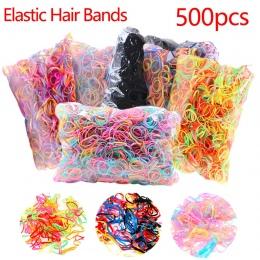 O 500 sztuk/paczka Kucyk Holder Pasma Włosów Elastyczna Tpu Uchwyt Gumowa Hairband Akcesoria Do Włosów Dla Dziewczyn Liny Włosów