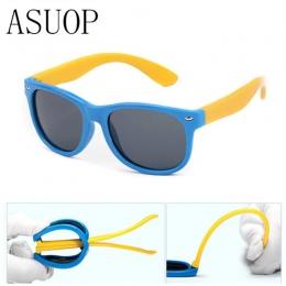 ASUOP2018 Paznokci Marki Silikon Bezpieczeństwa Oprogramowania Spolaryzowane kocie Oko Okulary Dla Dzieci Okulary Moda męska i d