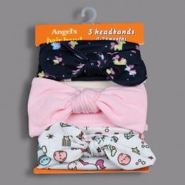 Gootrades 3 Sztuk/zestaw New Kids elastyczne pasma włosów Dziewczyny Mix Style Dots Wiązane turban Nakrycia Głowy Kwiat Bowknot