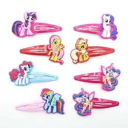 2 SZTUK Piękne Twórcze Świnia Koń Dziewczyny Akcesoria Do Włosów My little Ponys Włosów Klipy Cartoon Dzieci Ozdoby Do Włosów Sp