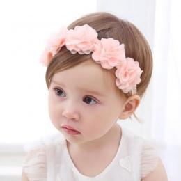 Nowe Dziecko Kwiat Pałąk Pink Ribbon Opaski Do Włosów Handmade DIY Nakrycia Głowy akcesoria Do Włosów dla Dzieci Newborn Maluch