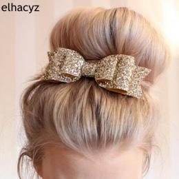 Retal Włosów Klip Kobiet Dziecko Dziewczyna 12 cm Big Glitter Hair Bow Dzieci Spinki Klip Do Włosów Dla Dzieci Akcesoria Do Włos