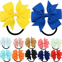 Moda 1 pc Kolorowe Wstążki Łuk Elastyczne Opaski Do Włosów 20 Kolory Słodkie Linowe Włosów Akcesoria Prezent