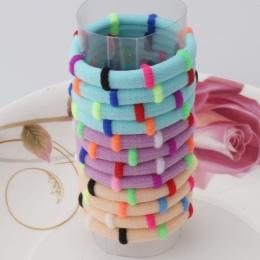 1 pack = 12 sztuk Kolorowe Akcesoria Do Włosów Gumowe Opaski Śliczne Włosów Pierścień Gum do Włosów Dziewczyny Elastyczne Opaski