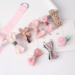 M MISM 1 zestaw = 8 sztuk Wielu styl Wstążka Łuk Kwiat Spinki Spinki Do Włosów Dzieci Akcesoria Cute Baby dziewczyny Nakrycia Gł