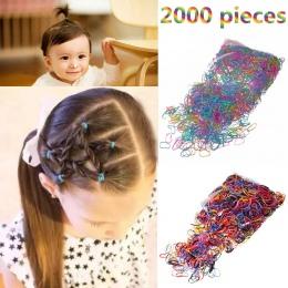 M MISM 2000 sztuk Jednorazowe Kolorowe Elastyczne Pasma Włosów Bezel Dla Dzieci Dziewczyna Akcesoria Do Włosów Scrunchy Gum Dla