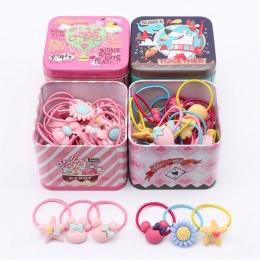 Nowy 40 sztuk Elastyczne Gumowe opaski do włosów Dziewczyny Kitty floral kucyk holder mieszania elastyczny pierścień włosów akce