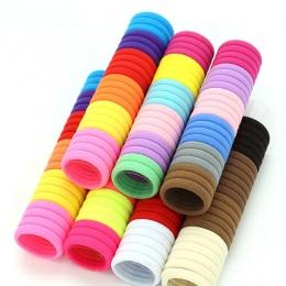 50 sztuk/partia 3 cm Akcesoria Do Włosów dla dzieci Scrunchy Elastyczne Opaski Do Włosów Dziewczyny Pałąk ozdoby krawaty acessór