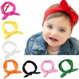 Śliczne Dzieci Dziewczyny Pałąk Łuk Królik Ucha Knot Hairband Nakrycia Głowy Gorąca Sprzedaż Turban Szef Okłady Dzieci Dorywczo