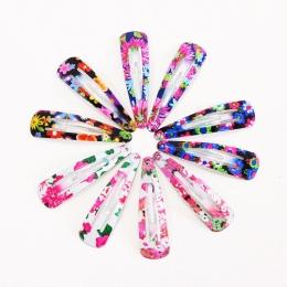 1 opakowanie (10/12 sztuk) druku Geometryczne Włosy Klipy Barrettes Dziewczyny Śliczne Spinki Kolorowe Opaski Dla Dzieci Hairgri