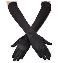 Klasyczne Dorosłych Czarny Biały Czerwony Szary Opera Skóry/Łokcia/Wrist Stretch Satin Palec Rękawiczki Długie Rękawiczki Kobiet