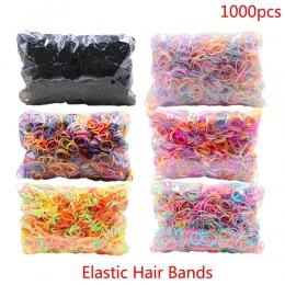O 1000 sztuk/paczka Gumy Hairband Liny Uchwyt Silikonowy Uchwyt Kucyk Elastyczna TPU Włosów Tie Gum Pierścienie Dziewczyny Akces