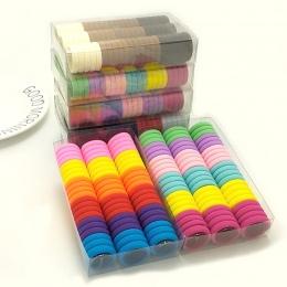 3 cm 66 sztuk/pudło słodkie Hairband Cukierki Kolor elastyczne opaski do włosów Gumką Dla Dzieci Akcesoria do Włosów dla Dziewcz