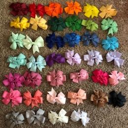 40 sztuk/zestawów Dzieci Kolorowe Muszka Szpilka Dziewczyna Nakrycia Głowy Wstążka Bowknot Klips Do Włosów Akcesoria do Włosów d