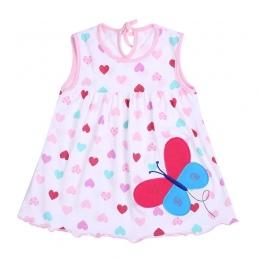 Newborn Baby Letnie Sukienki Dziewczyny Dziecko O-neck Bez Rękawów Bawełna Księżniczka Mini Sukienka Dziecko Dziewczynka Wzór De