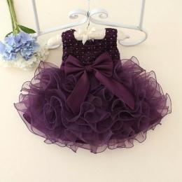 Gorący koronki kwiat dziewczyny wedding dress dziewczynek chrzest ciasto suknie dla party okazje dzieci 1 rok dziewczynka urodzi
