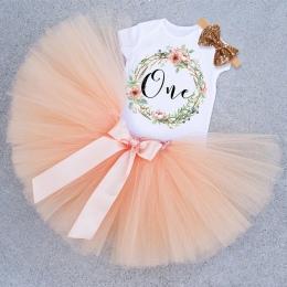 Dziewczynka Pierwsze 1st Birthday Party Tutu Sukienki dla Małych Dzieci Vestidos Infantil Księżniczka Ubrania 1 Rok Dziewczyny C