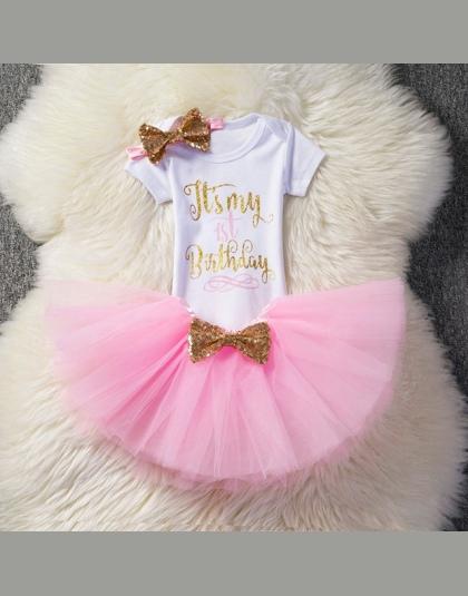 7363b76c Dzieci Sukienki Dla Dziewczynek 2018 Tutu Dziewczyny 1st Pierwsze Urodziny  strona Sukienka Baby Girl 1 Rok Chrzest Niemowląt Ubr