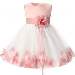 Newborn Baby Girl 1 Rok Urodziny Sukienka Płatków Tulle Toddler Girl Chrzest Niemowląt Sukienka Księżniczka Party Sukienki Dla D