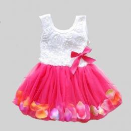 2018 Lato Nowa Bawełna Dziecko Niemowlę Bajka Płatki Kolorowe Sukienka Szyfonowa Księżniczka Newborn Baby Suknie Prezent