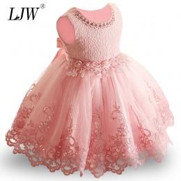 2018 Nowy Lace Baby Girl Dress 9 m-24 m 1 Lat Dziewczynek Urodziny Suknie Vestido birthday party księżniczka sukienka