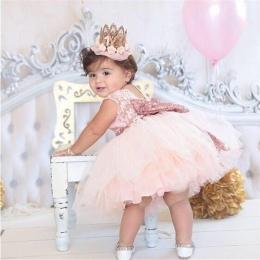 Księżniczka Dziewczyna nosić Bez Rękawów Bow Sukienka dla 1 rok urodziny Maluch Kostium Lato na Imprezy Okazje vestidos niemowlą
