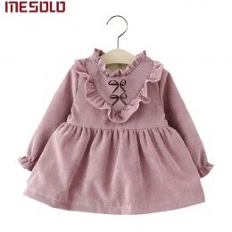 Nowy 2017 bawełniane ubrania Dla Dzieci Dziewczyny z długimi rękawami Dziewczyny dziecko sukienka dziecko odzież sukienka vestid