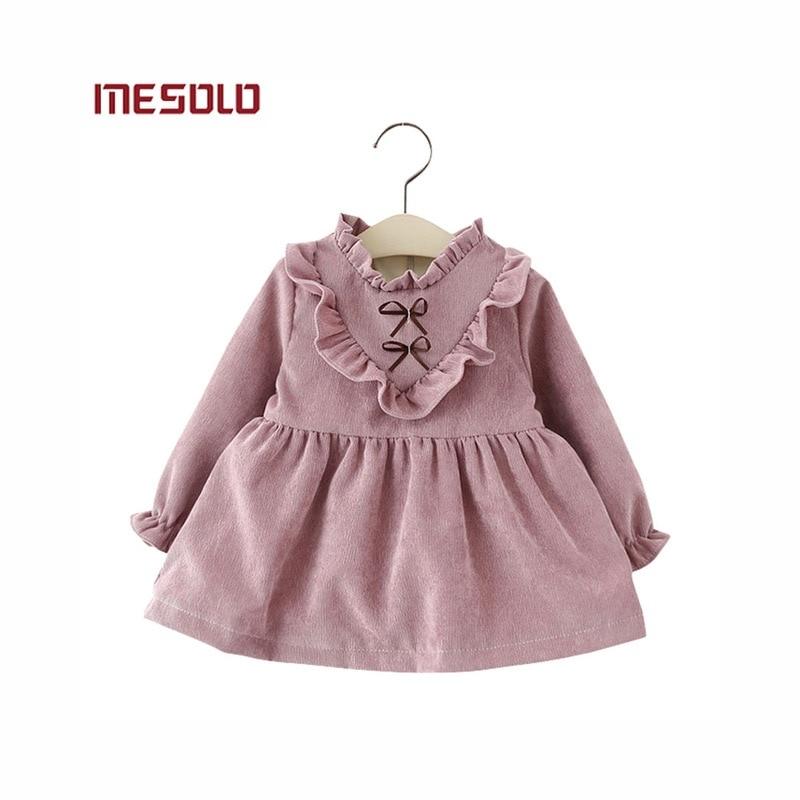 804a48ce1d ... Nowy 2017 bawełniane ubrania Dla Dzieci Dziewczyny z długimi rękawami  Dziewczyny dziecko sukienka dziecko odzież sukienka