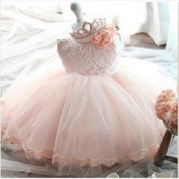 2017 vintage Baby Girl Dress Chrzest Sukienki dla Dziewczynek 1st rok urodziny wesele Chrzciny dla niemowląt odzież bebes
