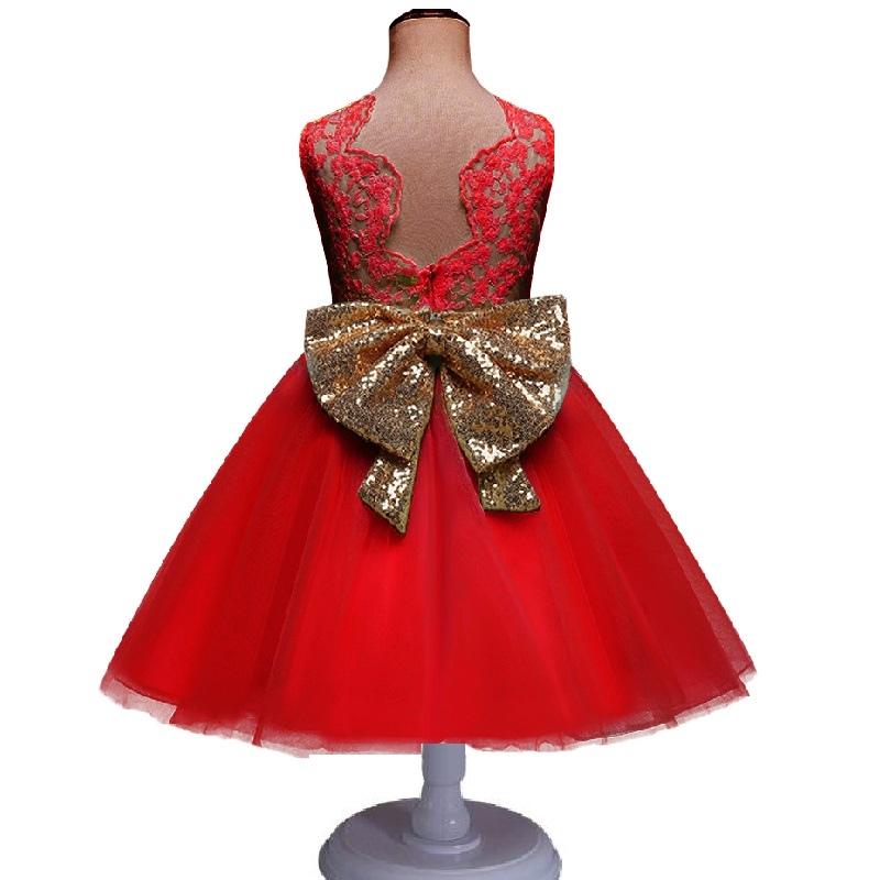 e922958a52 ... Nowe Mody Formalne Noworodka Suknia Ślubna Dziewczynka Bow Wzór Dla  Malucha 1 Lat Urodziny Chrzest Sukienka ...