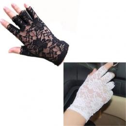 2016 Kobiety w stylu vintage Niesamowite Goth Party Koronkowe Rękawiczki Bez Palców Rękawice anty-uv ochrony przeciwsłonecznej S