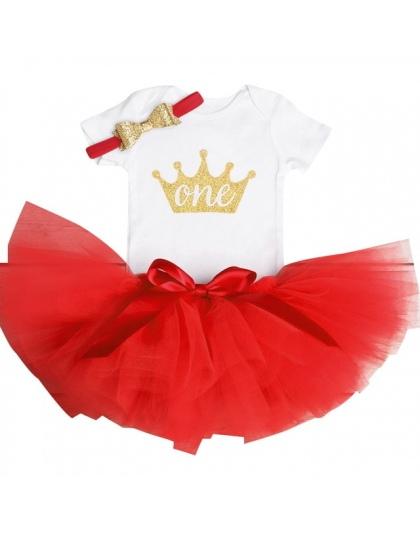228f4aa83f 1 rok Baby Girl Dress Księżniczka Dziewczyny Tutu Sukienka Tolldler Ubrania  Dla Dzieci Baby Chrzest 1st