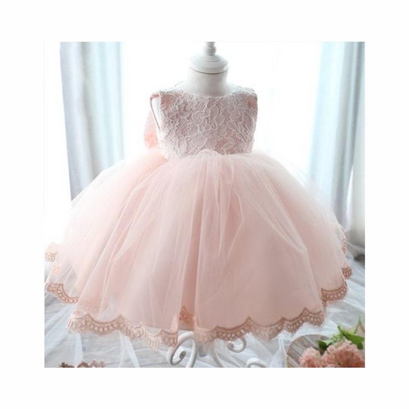 c8c7f9895c ... Vintage Koronki Niemowlę Dziewczynka Korowód Suknia Ślubna Księżniczka Little  Girls 1 Rok Birthday Party Dress Noworodka