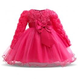 Zima Christmas Baby Girl 1 Rok Urodziny Mała Suknia Chrzciny Suknie Party Dzieci Nosić Ubrania Dla Niemowląt Dziewczyny Butik Od