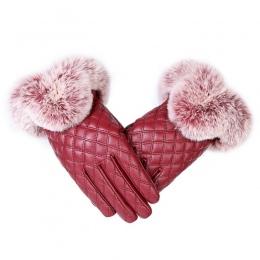 KUYOMENS Kobiety Moda Ciepłe Grube Zimowe Rękawiczki Skórzane Eleganckie Dziewczyny Marka Rękawice Rękawice Darmowe Rozmiar Z Fu