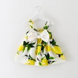 Trendy sundress dla niemowląt noworodka dziewczynka little dress lemon 1st urodziny strój lato boho kids party wakacje kostium v