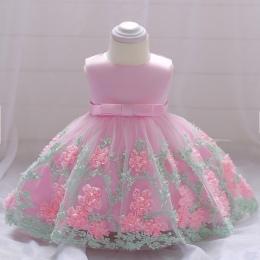 2018 vintage Baby Girl Dress Chrzest Chrzest Sukienki dla Dziewczynek 1st rok urodziny wesele odzież dla niemowląt bébés