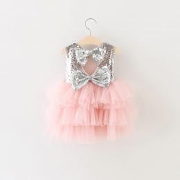 Pierwsze Urodziny Chrzest Komunia Suknie dla 1 2 lata Niemowlę Maluch Dziecka Noworodka Ubrania Tutu Cekiny Letnie Sukienki dla