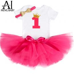 Ai Meng Stroje Dla Dzieci Pierwsze Urodziny Tutu Tulle 1 Rok strona Maluch Chrzciny Komunia Suknia Puszyste Różowe Sukienki Dla