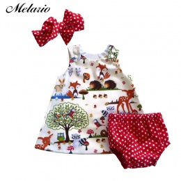 Melario Dziecko Sukienki 2018 Wiosna Nowe Dziecko Dziewczyny Ubrania Kwiat Wzór Dziecko Księżniczka Sukienka Plaid Bawełna Dziec