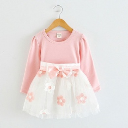 Z długim Rękawem Dziewczynek Sukienka Dla Dziewczynki Chrzciny Urodziny 0 2 t Newborn Maluch Sukienki Dzieci Dorywczo Ubrania Ve