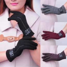 Kobiety mody Bowknot Ciepłe Zimowe Rękawiczki Rękawiczki zimowe rękawiczki rękawiczki kobiety jazdy rękawice guantes luvas de in