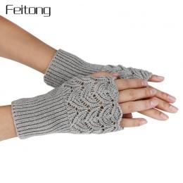 Nowy Ustęp Dziania Rękawiczki Bez Palców Kobiety Moda Lady Casual Jesień Zima Rękawice Dziewczyny Kobiet Ręcznie Rękawice Luvas