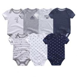 7 sztuk/partia body dla bobasów uniesx Najwyższej Jakości dziecko kombinezon O-Neck 0-12 m Bawełna lato dzieci odzież roupa de b