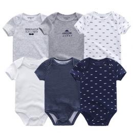 6 sztuk/partia noworodka body niemowlęce krótki sleevele ubrania dla dzieci O-neck 0-12 m dziecko Kombinezon 100% Bawełniane ubr